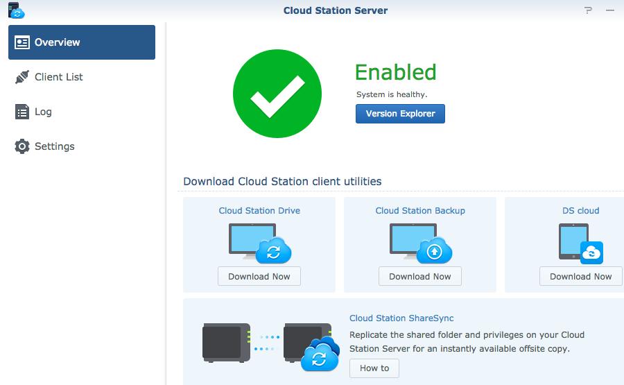 Cloud Station Server sẽ tạo ra những task làm việc, đồng bộ realtime từ máy tính lên thiết bị NAS ngay lập tức