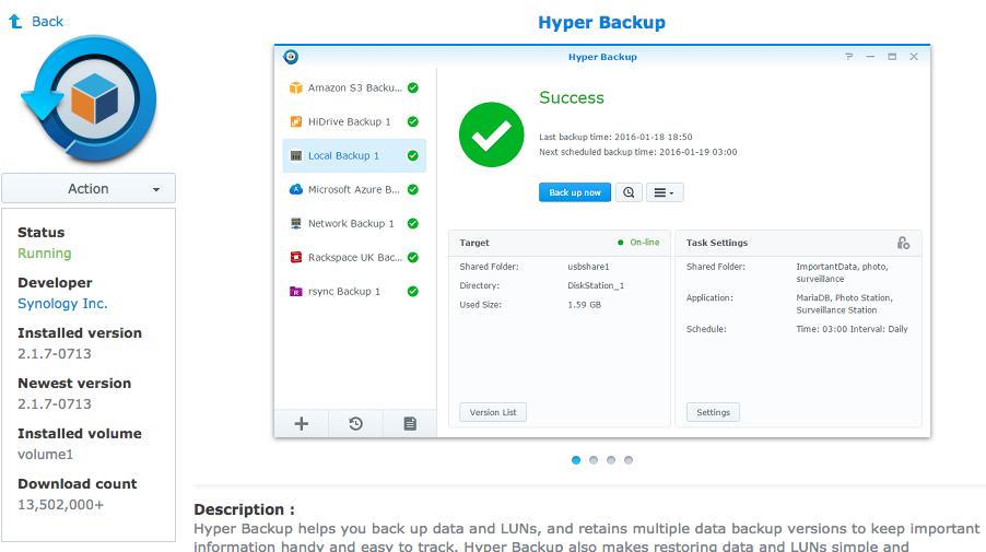 Sử dụng Hyper Backup để tạo lịch backup ra bên ngoài nhằm gia tăng tính an toàn cho dữ liệu của bạn