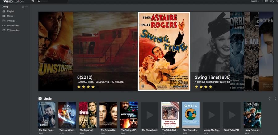 Ứng dụng Video Station giúp bạn Streaming video trực tiếp với chất lượng lên đến 4k mượt mà