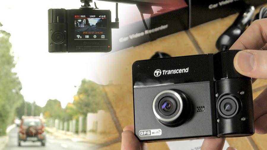 Camera hành trình DP520 với 2 camera trước và sau chất lượng cao của Transcend