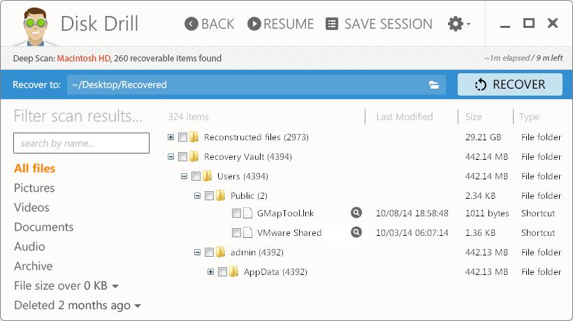 Khởi chạy Disk Drill để tiến hành tìm kiếm và khôi phục dữ liệu