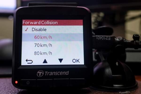 DP230 có thể thiết lập mức tốc độ xe