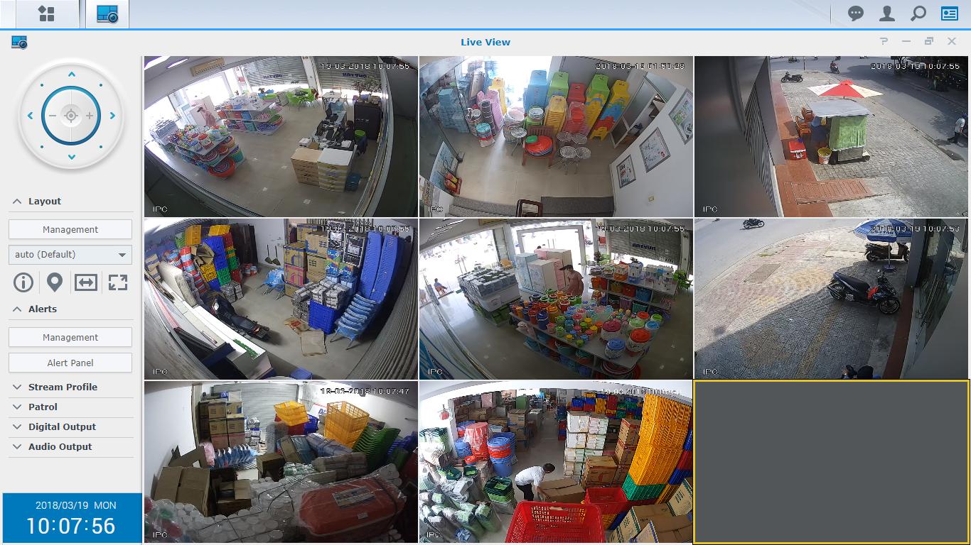 Hệ thống camera giám sát an ninh tại Showroom Duy Tân