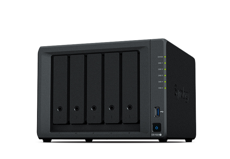 Synology DS1520+ | Thiết bị lưu trữ dữ liệu an toàn cho cá nhân và doanh nghiệp
